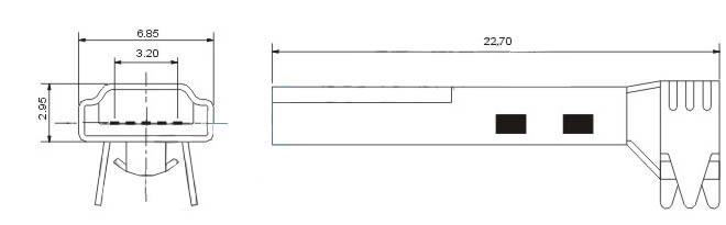 4p公头焊线式 mini usb